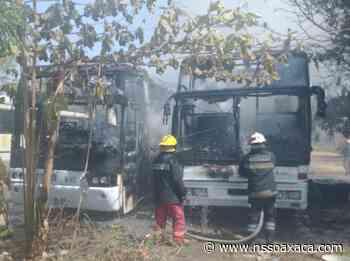 Domingo fatal de autobuses: dos se queman en Puerto Escondido y dos chocan en el Istmo - www.nssoaxaca.com