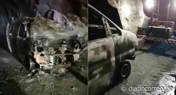Ica: Minivan con pasajeros se incendia en el túnel de Palpa (VIDEO) - Diario Correo