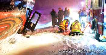 One person injured as bus goes off road in Conception Bay South during storm   The Telegram - The Telegram