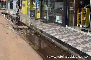 ARAGUATINS: Comerciantes e moradores reclamam de esgoto que escorre pela Siqueira Campos - Folha do Bico