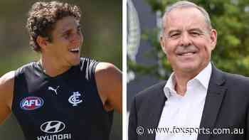 New Pies president's bad speech gaffe; injured Blue's risky fence jump: Man on the Mark with Tom Morris