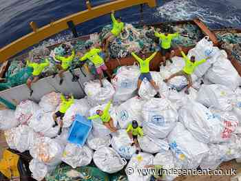 More than 47 tons of plastic found in Hawaii marine reserve