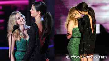 Don't Miss This: Sandra Bullock Kisses Scarlet Johansson At Golden Globe, See Video Here - IWMBuzz
