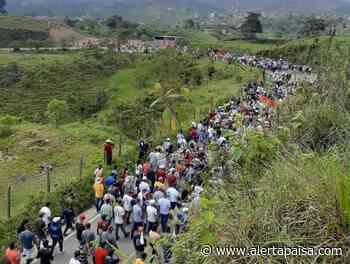 Campesinos se movilizaron en Anorí, Antioquia previo al paro del 28 de abril - Alerta Paisa
