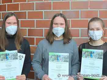Drei Schülerinnen des Friedrichs-Gymnasiums erzielen Erfolge bei der Internationalen Biologie-Olympiade (IBO): Mädchen haben in MINT was drauf - Herford - Westfalen-Blatt