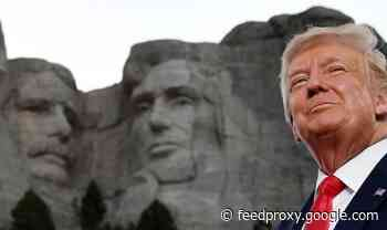 Donald Trump believes his head would be on Mount Rushmore - if he was a Democrat
