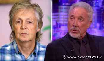 Tom Jones recalls apologising to Paul McCartney after turning down offer 'It was too late' - Daily Express