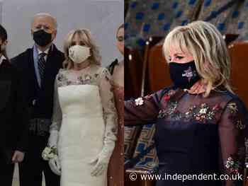 Jill Biden wears same dress for joint address that she wore at inauguration