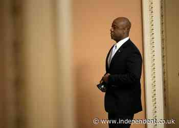 Tim Scott insists US is not racist in response to Biden speech – after revealing racist abuse he has faced