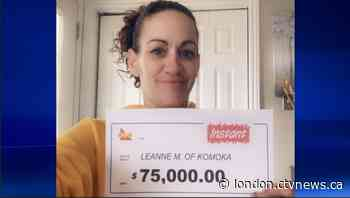 Komoka, Ont. woman wins $75,000   CTV News - CTV News London