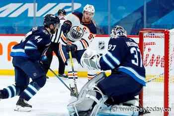 McDavid with another three-point night as Edmonton Oilers edge Winnipeg Jets 3-1