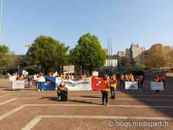Rassemblement devant la préfecture de Bobigny 20 avril 2021 - Le Club de Mediapart
