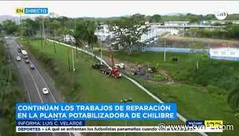 Continúan los trabajos de reparación en la planta potabilizadora de Chilibre - TVN Panamá