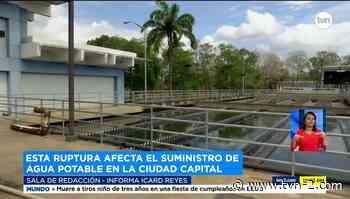 Potabilizadora de Chilibre reduce producción por daño en tubería de 66 pulgadas - TVN Panamá