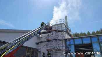 Langwieriger Feuerwehreinsatz bei Brand in Spänesilo in Westerburg - WW-Kurier - Internetzeitung für den Westerwaldkreis