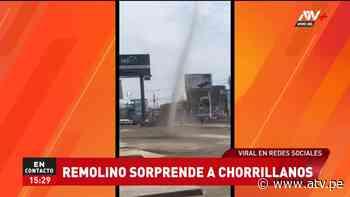 3:45 pm Chorrillos: Vecinos fueron sorprendidos por aparición de un remolino en la vía pública - ATV.pe