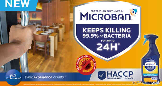 Microban 24 Professional: The new disinfectant brand offering up to 24 hour bacteria protection for your business