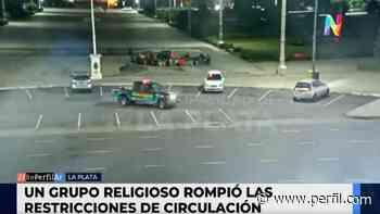 Video: rezaban en Lujan fuera de horario y la Policía tuvo que dispersarlos - Perfil.com
