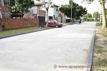 Pavimentaron dos calles en el barrio Magdalena de Los Polvorines - Que Pasa Web