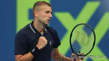 Qatar Open: Dan Evans to play Roger Federer after Jeremy Chardy win - BBC Sport