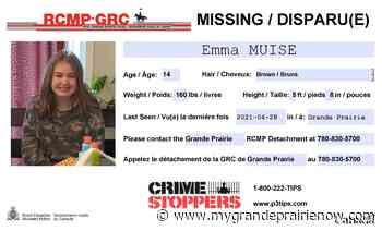 Grande Prairie RCMP searches for missing 14-year-old