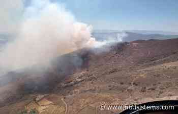 Combaten voraz incendio en el Cerro Viejo, ubicado entre Tlajomulco y Jocotepec - Notisistema