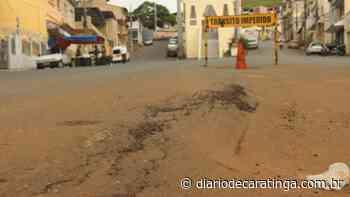 Afundamento de asfalto no Santo Antônio gera transtornos - Diário de Caratinga