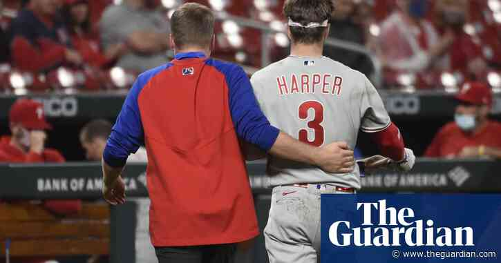 Phillies' Bryce Harper 'feels good' after taking 97mph fastball to left cheek