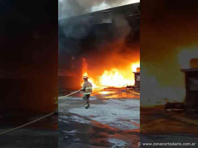 Don Torcuato: voraz incendio en una papelera - Zona Norte Diario Online