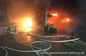 Feuerwehreinsatz in Freisen: Lagerhalle brannte - Saarbrücker Zeitung