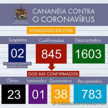 Boletim epidemiológico COVID-19 de Cananeia do dia 27/04 - Noticia de Cananéia
