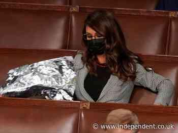 Lauren Boebert makes 'space blanket' protest at Biden's joint address