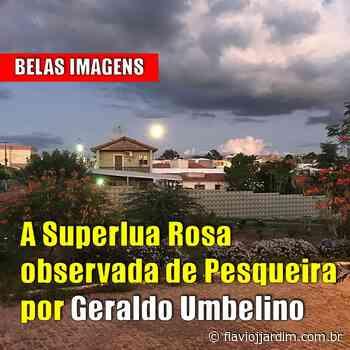 """IMAGENS   Fotos da """"superlua rosa"""" nas lentes de Geraldo Umbelino, em Pesqueira, Agreste de Pernambuco - Flávio José Jardim"""
