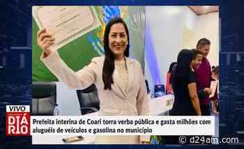 Prefeita interina de Coari gasta verba pública com aluguéis de carros e gasolina; veja vídeo - D24AM