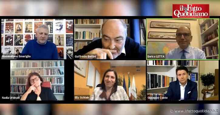 """Conte-Letta, il collegamento del leader M5s salta due volte. Bettini ironizza: """"In assenza di Casalino le piattaforme non vanno…"""""""