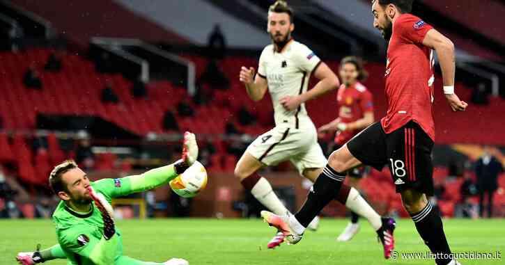 Europa League, Manchester United-Roma 6 a 2: a Fonseca non bastano Pellegrini e Dzeko. Red Devils dilagano nel secondo tempo