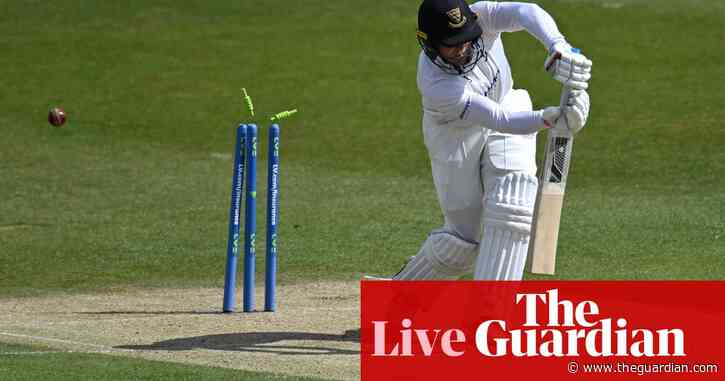 Wood and Raine on song for Durham as Cook hits century: county cricket – as it happened