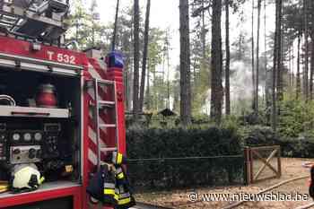 Berghok naast chalet afgebrand in Gierle (Lille) - Het Nieuwsblad