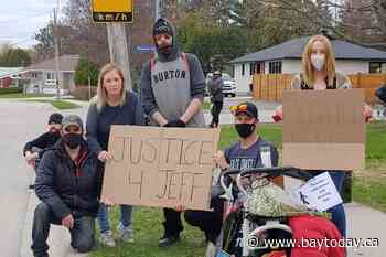 Murdered man's family demands 'Justice 4 Jeff' as suspect granted bail, then re-arrested