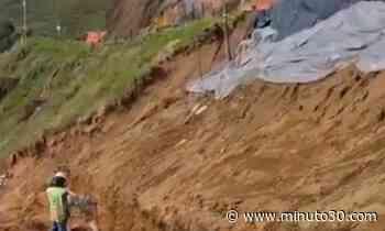 Video: ¡Qué buena! Inicia la construcción de un muro de contención en la vía La Ceja-Abejorral - Minuto30.com