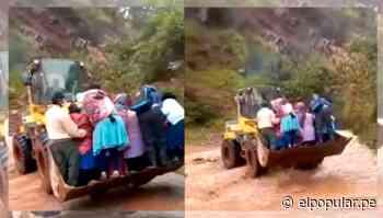 Elecciones 2021: Pobladores de Andahuaylas cruzan un río con maquinaria pesada para llegar a su local de votación - ElPopular.pe