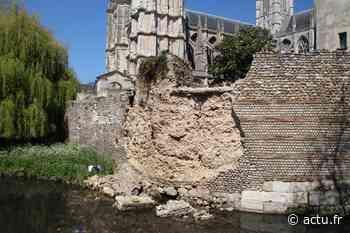 Evreux. Un parement du rempart antique s'effondre au pied de la cathédrale - actu.fr