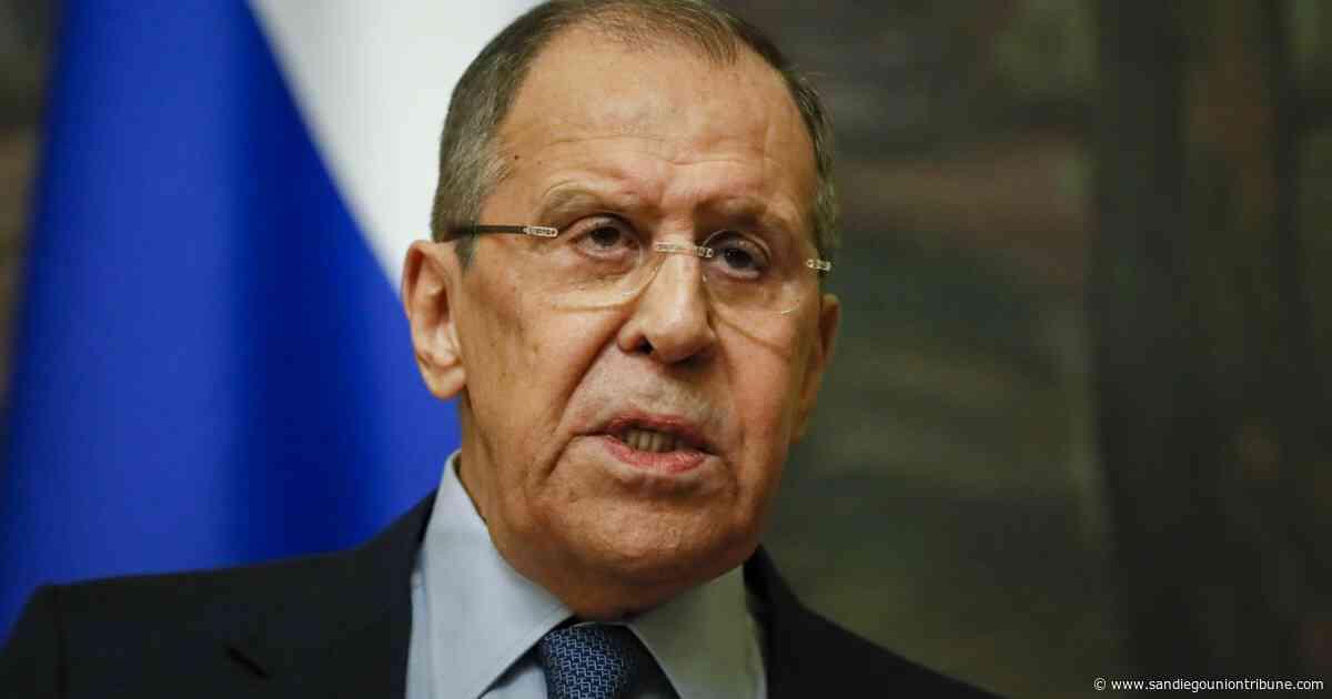 """Lavrov: relaciones con EUA, """"peores que en la Guerra Fría"""" - San Diego Union-Tribune en Español"""