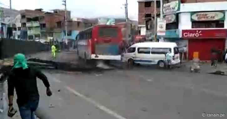 Policía desbloqueó la Carretera Central en La Oroya - Canal N