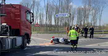 An der Autobahnauffahrt Erkelenz-Ost: Motorradfahrer bei Kollision mit Sattelzug tödlich verletzt - Aachener Zeitung