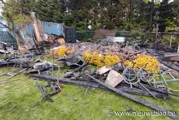 Tuinhuis met fietsen en zitmaaier uitgebrand in Overpelt