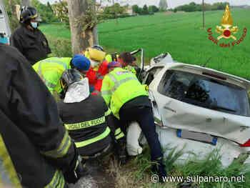 Tamponamento Soliera, auto fuori strada: la conducente resta bloccata nell'abitacolo - SulPanaro