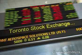S&P/TSX composite down in early trading, loonie continues to edge higher
