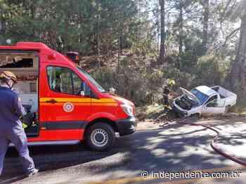 Condutor fica ferido após saída de pista na ERS-129, em Vespasiano Corrêa - independente