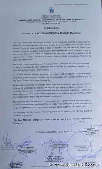 Concejo Deliberante de Rio Grande Concejales repudiaron los dichos de Patricia Bullrich sobre las Islas Malvinas - La Licuadora - La Licuadora